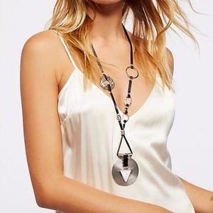 Free People Montero Leather Pendant Necklace